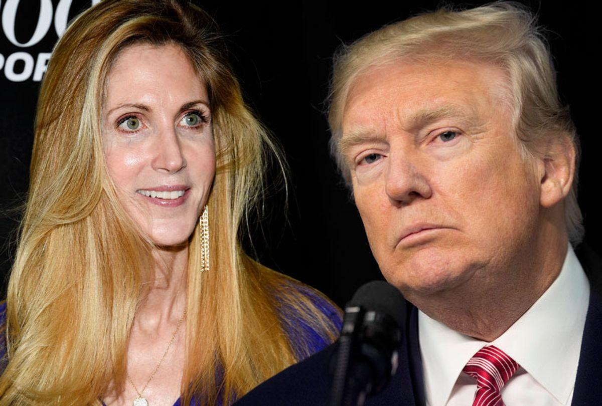 Ann Coulter; Donald Trump (AP/Evan Agostini/Getty/Chris Kleponis)