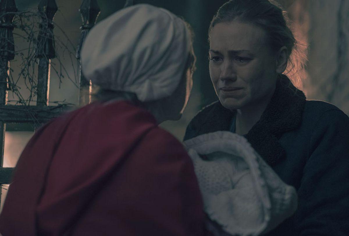 "Elisabeth Moss and Yvonne Strahovski in ""The Handmaid's Tale"" (George Kraychyk)"