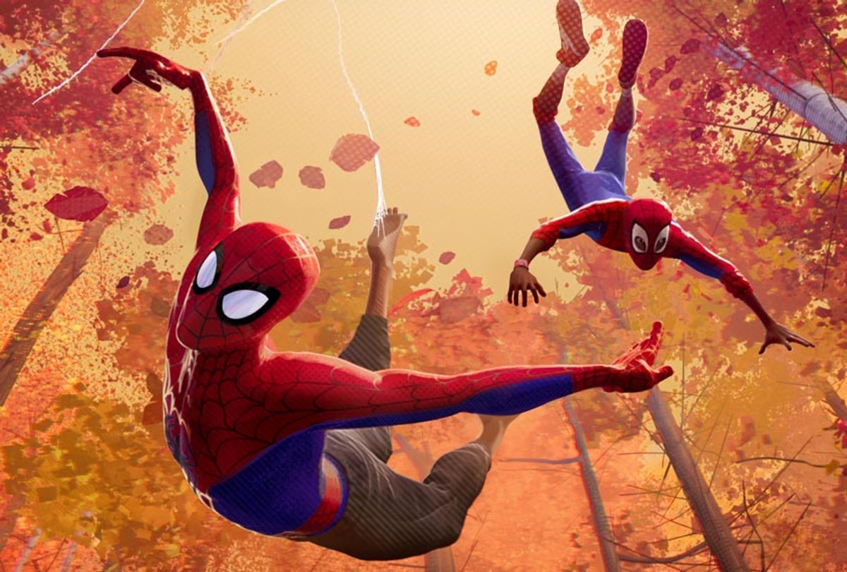 """Peter Parker and Miles Morales in """"Spider-Man: Into the Spider-Verse"""" (Sony Pictures Animation)"""