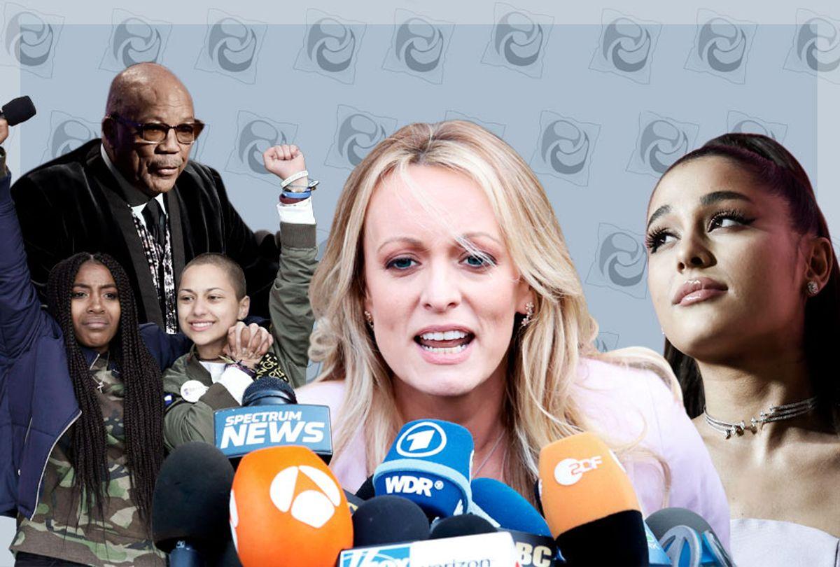 Quincy Jones; Emma Gonzalez/Parkland Protest; Stormy Daniels; Ariana Grande (AP/Getty/Salon)