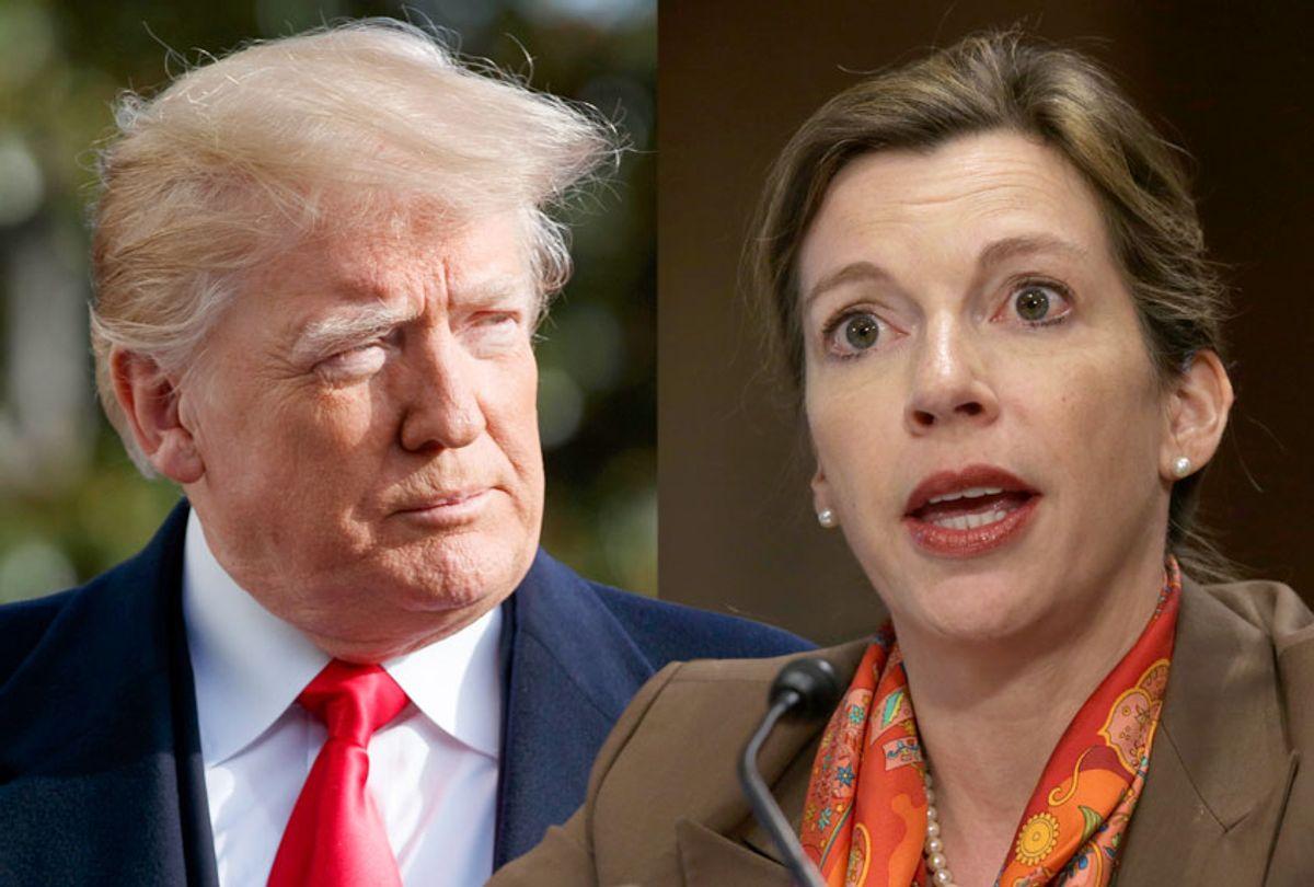 Donald Trump; Evelyn Farkas (AP/Carolyn Kaster/Getty/Alex Wong)
