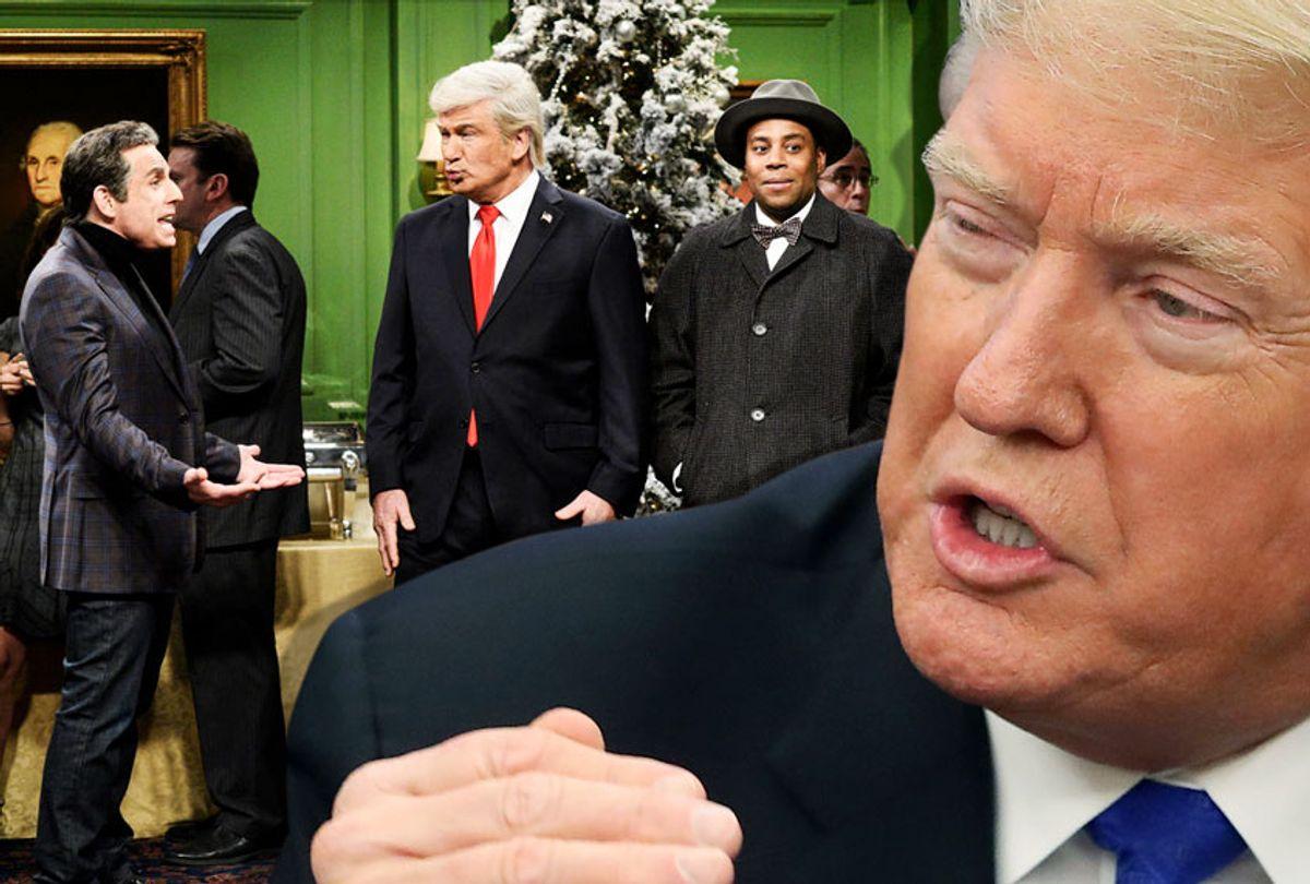 """Donald Trump; SNL """"It's A Wonderful Trump"""" (Getty/NBC/Will Heath/Salon)"""
