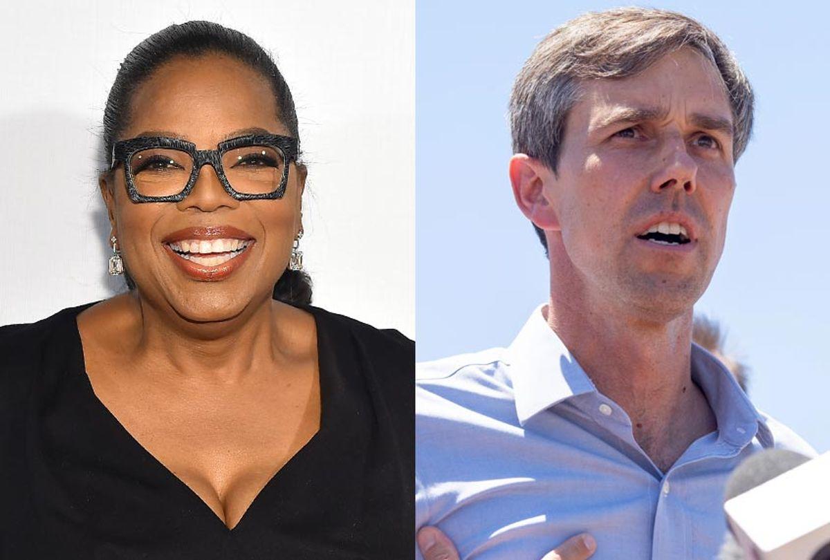 Oprah; Beto O'Rourke (Getty/Ben Gabbe/Paul Ratje)