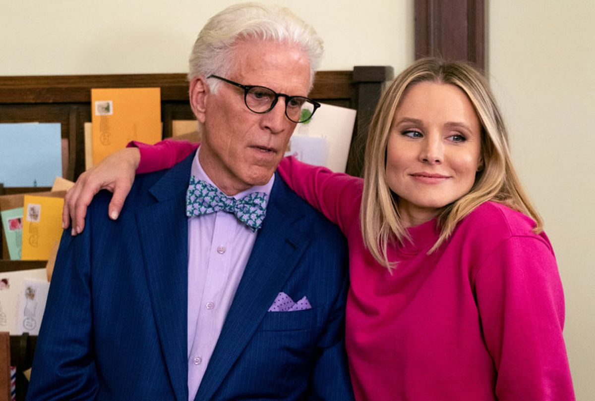 """Ted Danson and Kristen Bell in """"The Good Place"""" (Colleen Hayes/NBC)"""