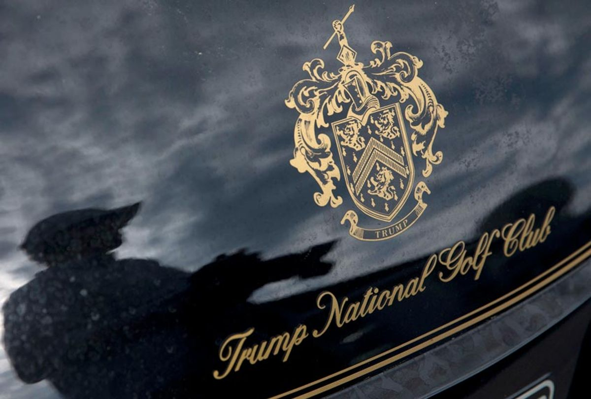 A golf cart at the the Trump National Golf Club Westchester in Briarcliff Manor, N.Y. (AP/Mary Altaffer)