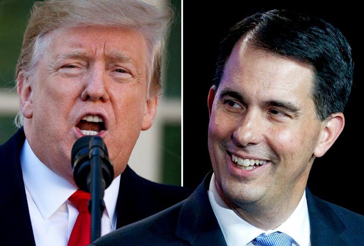 Donald Trump; Scott Walker (AP/Evan Vucci/Salon)