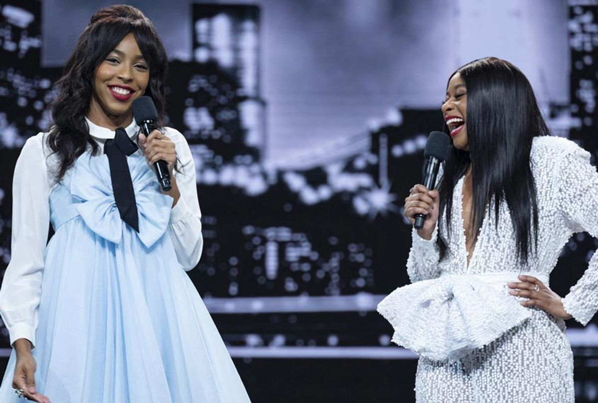 """Jessica Williams and Phoebe Robinson in """"2 Dope Queens"""" (Michele K. Short/HBO)"""