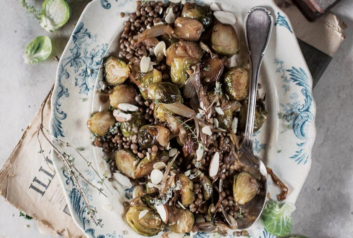 Caramelized Brussel Sprouts & Lentil Salad (Valentina Solfrini, author of NATURALLY VEGETARIAN)