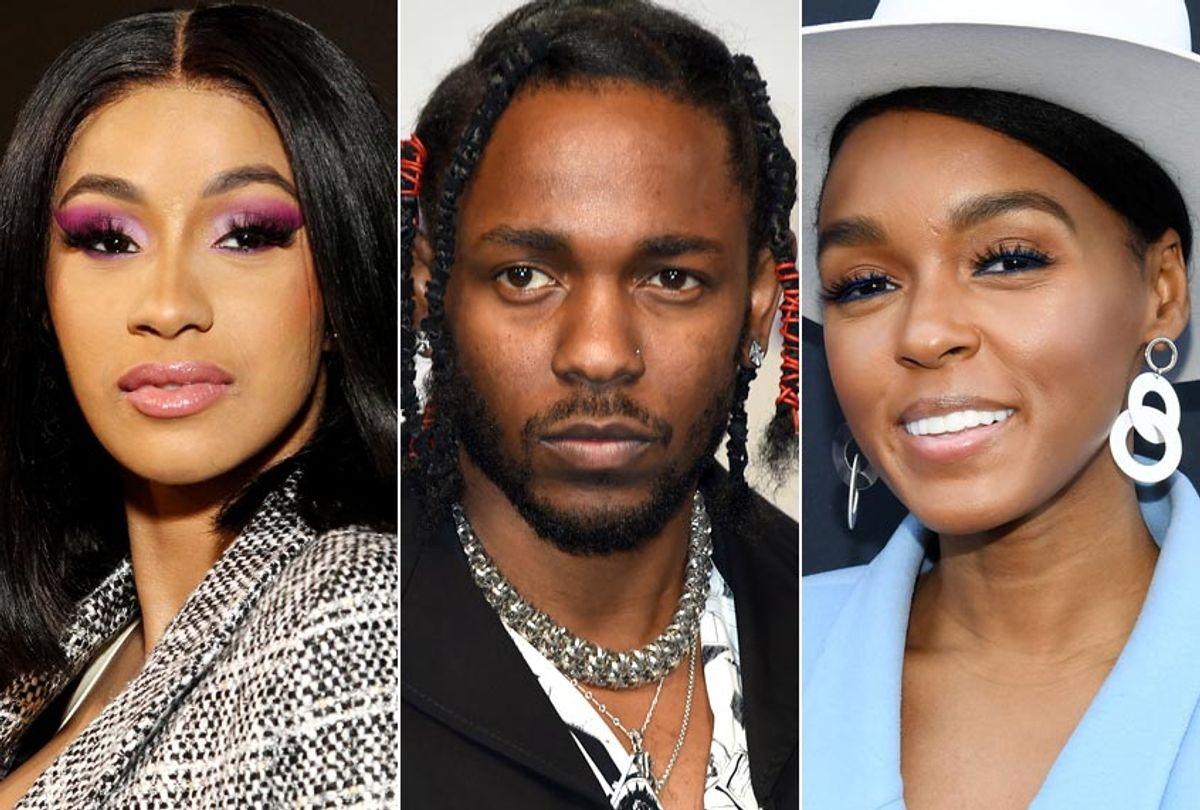 Cardi B; Kendrick Lamar; Janelle Monae (AP/Getty)