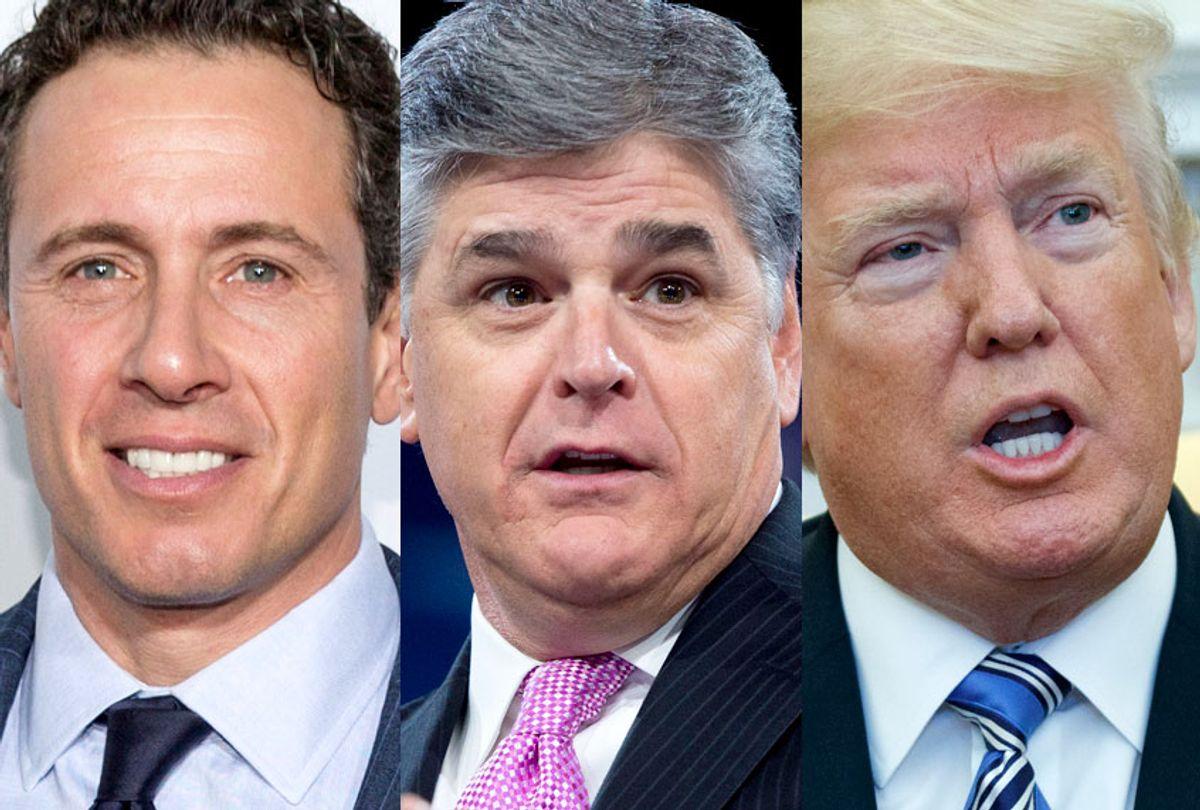 Chris Cuomo; Sean Hannity; Donald Trump (AP/Getty)