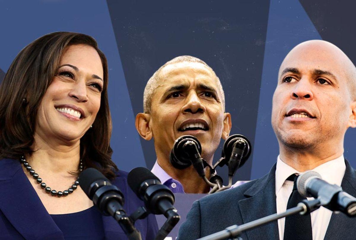Kamala Harris; Barack Obama; Cory Booker (AP/Getty/Salon)