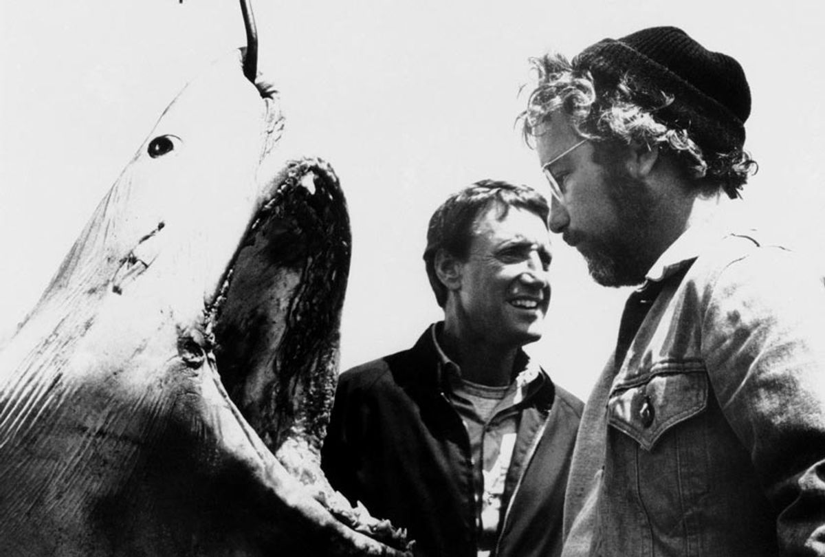 """Roy Scheider and Richard Dreyfuss are shown in a scene from the movie """"Jaws,"""" 1975. (AP Photo)"""