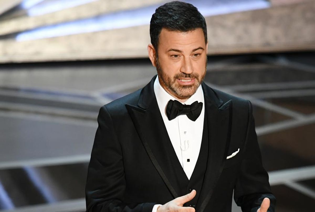 Host Jimmy Kimmel speaks onstage during the 90th Annual Academy Awards on March 4, 2018 in Hollywood, California. (Getty/Kevin Winter)