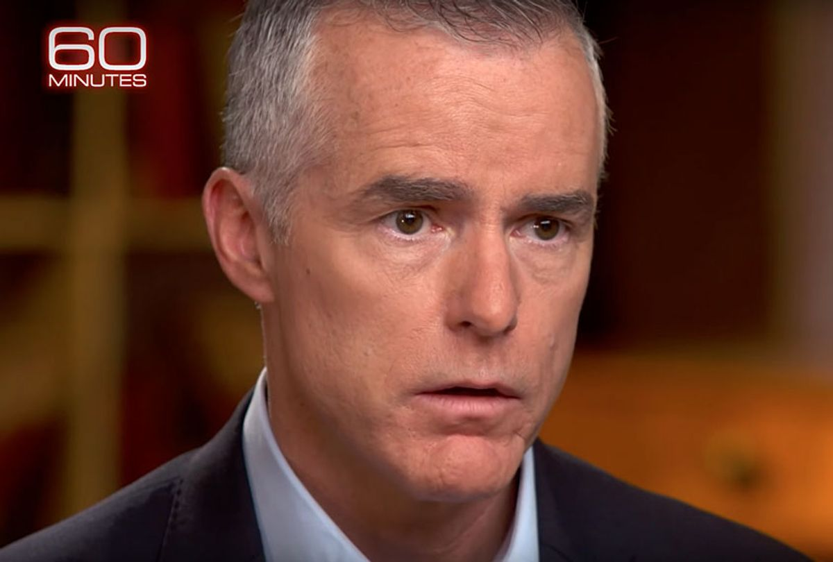 """Andrew McCabe on """"60 Minutes"""" (YouTube/60 Minutes)"""