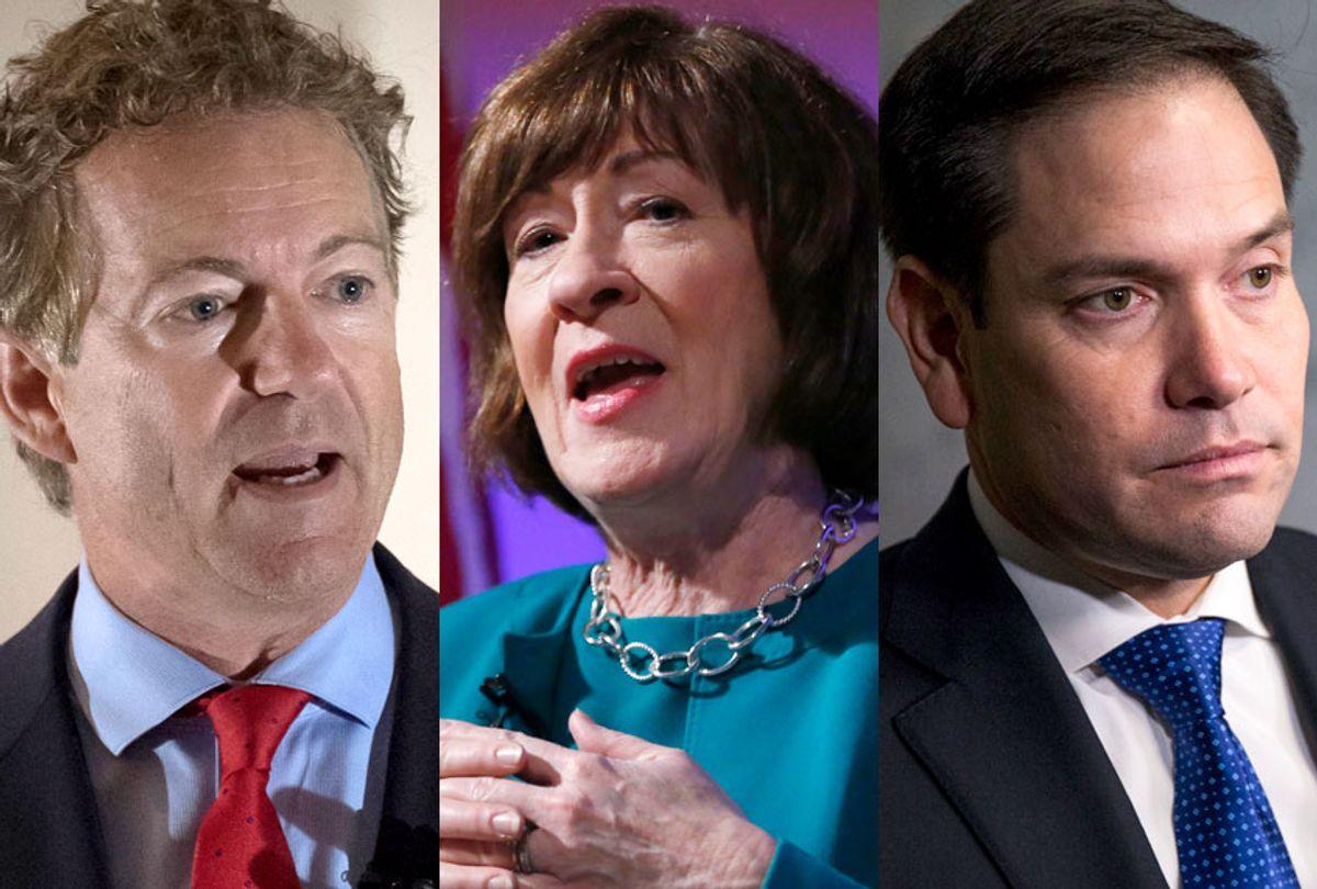 Rand Paul; Susan Collins; Marco Rubio (AP/Getty)