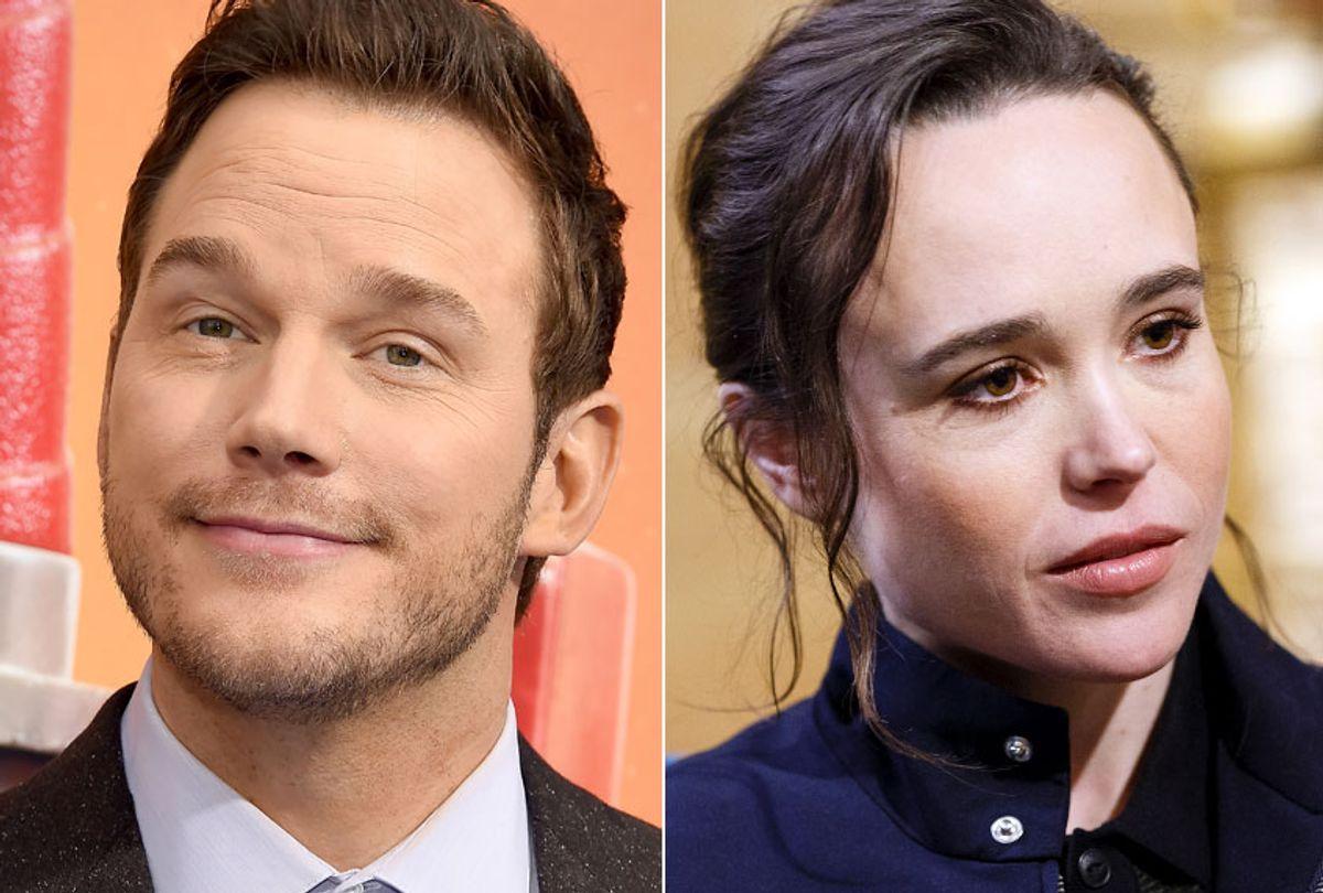Chris Pratt; Ellen Page (Getty/Gregg DeGuire/Rich Polk)