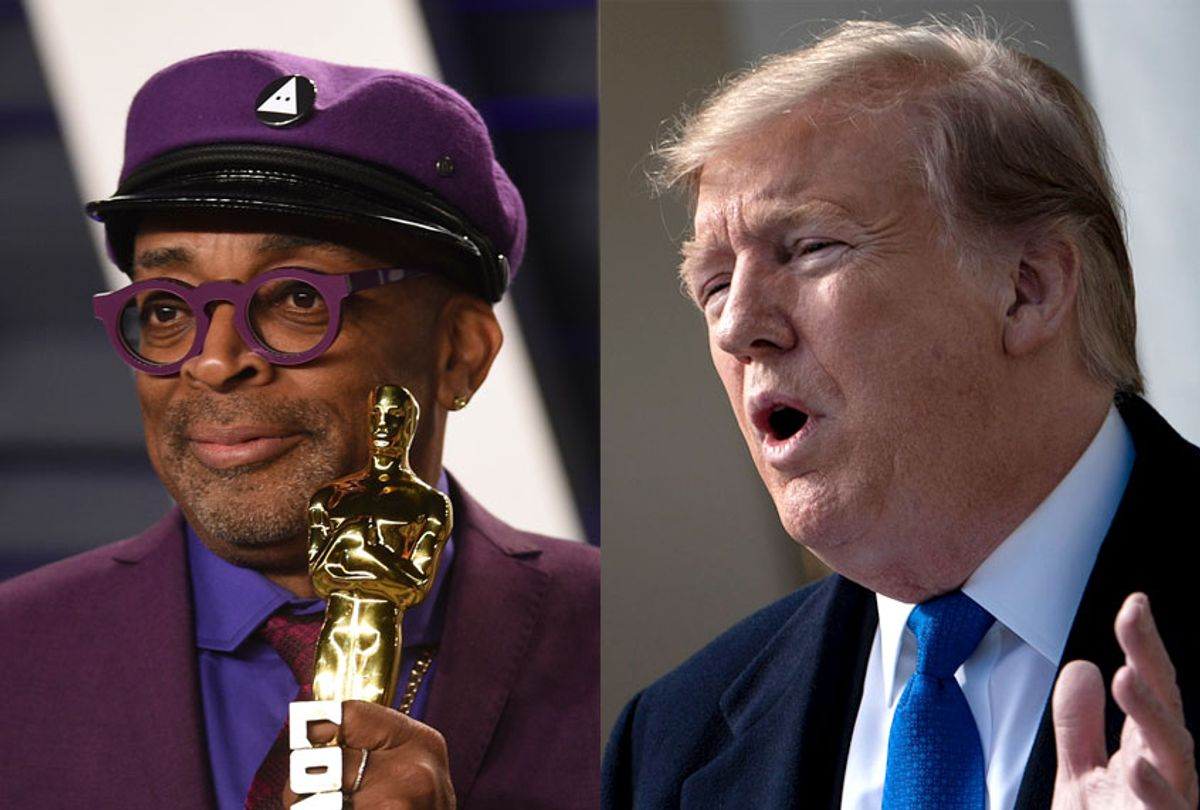 Spike Lee; Donald Trump (AP/Evan Agostini/Getty/Brendan Smialowski)