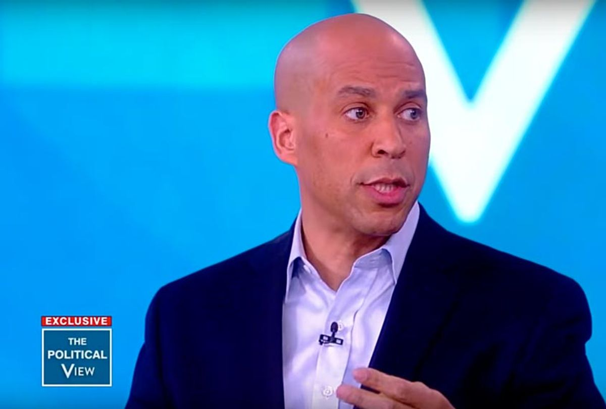 """Cory Booker on """"The View"""" (YouTube/The View)"""
