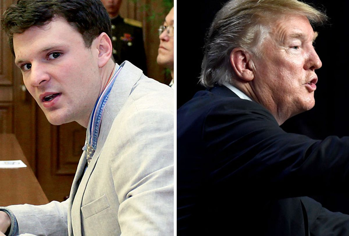 Otto Warmbier; Donald Trump (AP/Kim Kwang Hyon/Susan Wals)
