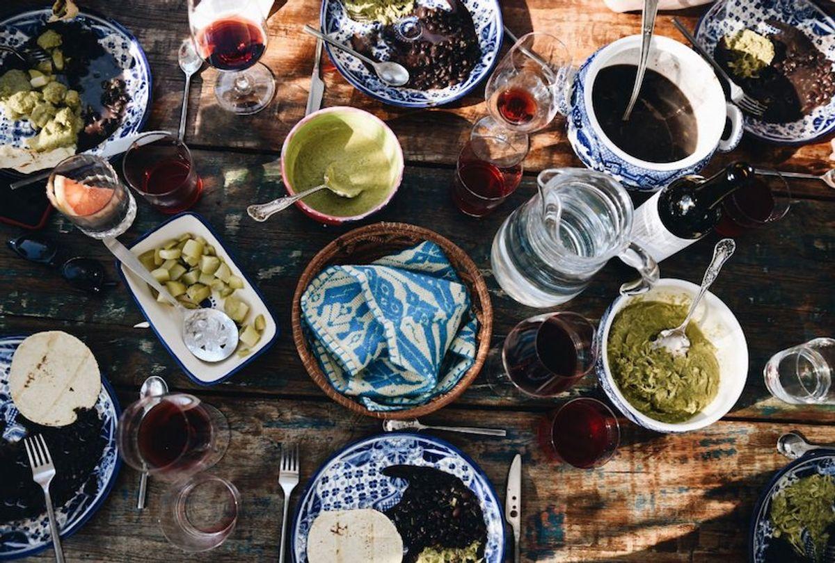 The table is set at Casa Jacaranda. (Anna Petrow/Fathom)