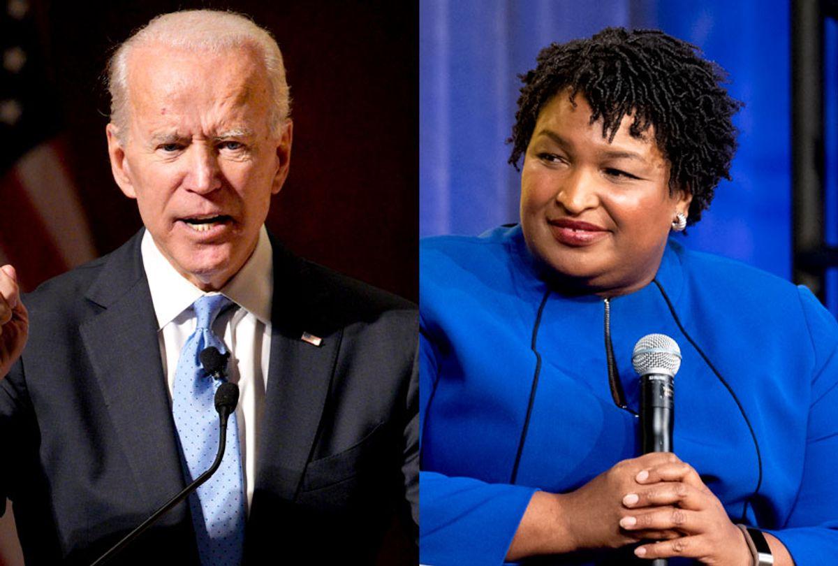 Joe Biden; Stacey Abrams (AP/Nati Harnik/Emma McIntyre)