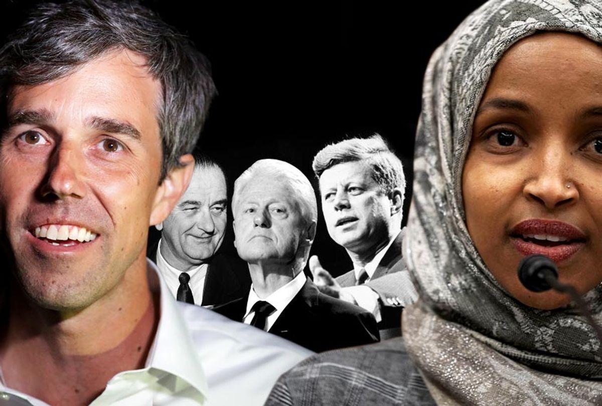 Beto O'Rourke; Lyndon B. Johnson; Bill Clinton; John F. Kennedy; Ilhan Omar (AP/Getty/Salon)