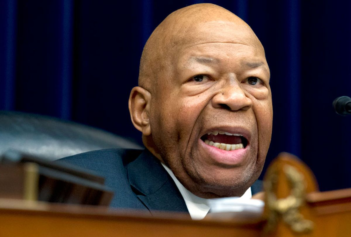 House Oversight and Reform Committee Chair Elijah Cummings, D-Md., speaks during the House Oversight Committee hearing on Capitol Hill in Washington, Thursday, March 14, 2019. (AP/Jose Luis Magana)