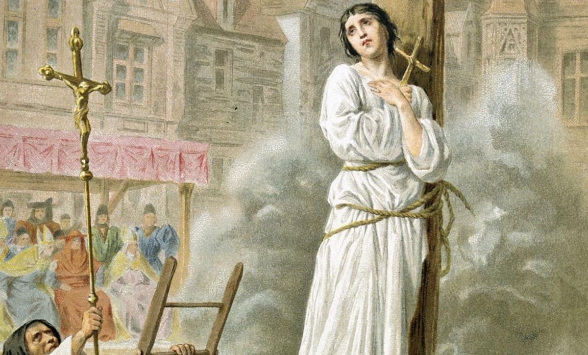 Joan of Arc burned at the stake. (Getty/Photos.com)