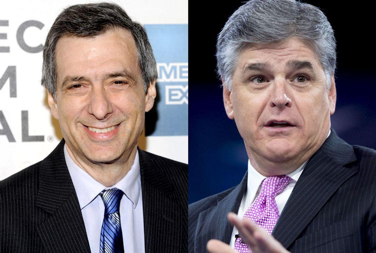 Howard Kurtz; Sean Hannity (AP/Evan Agostini/Getty/Saul Loeb)