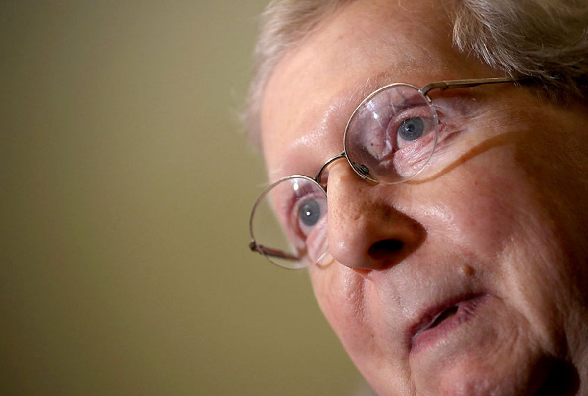Senate Majority Leader Sen. Mitch McConnell (R-KY) (Getty/Win McNamee)