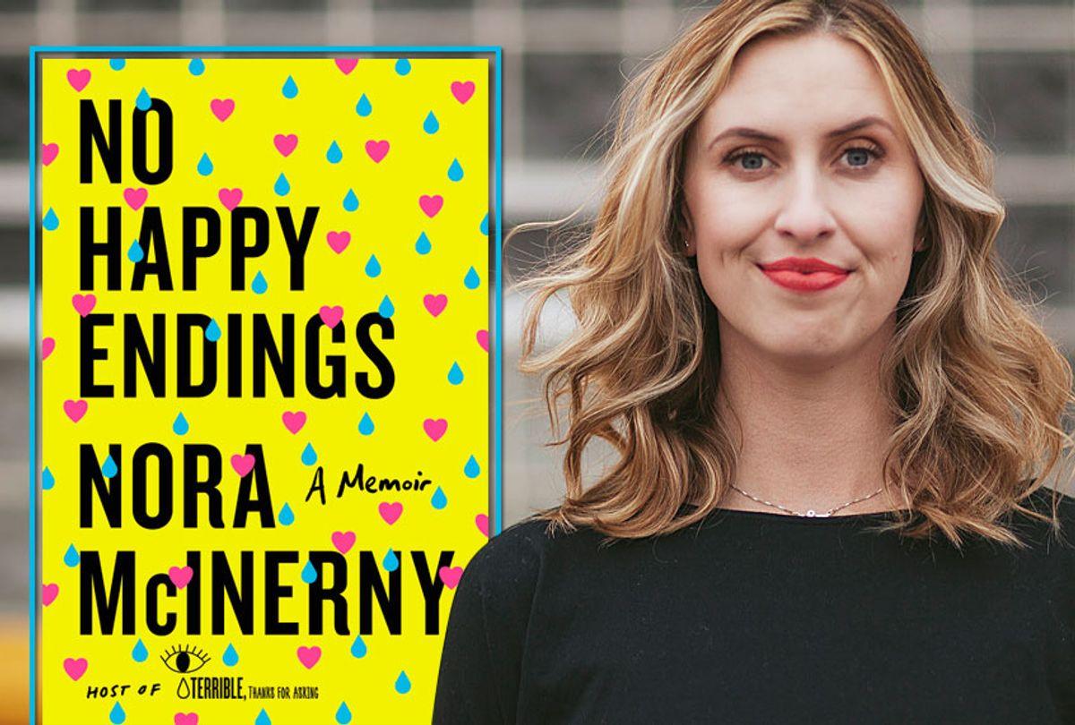 """No Happy Endings: A Memoir"" by Nora McInerny Purmort (Dey Street Books/Brandon Werth)"