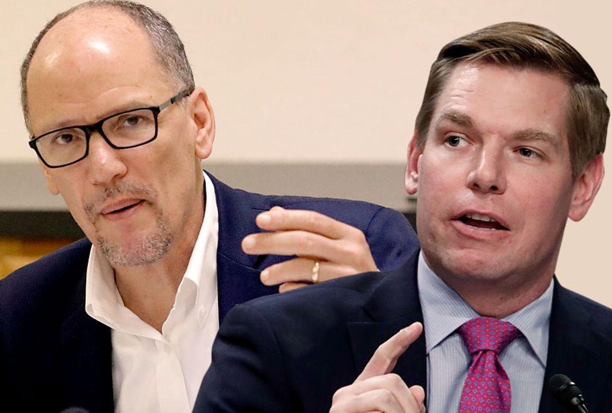 Tom Perez; Eric Swalwell (AP/John Raoux/Jacquelyn Martin)