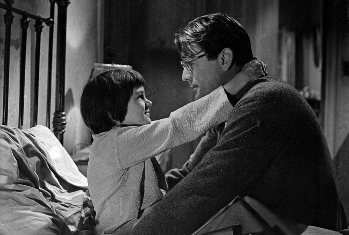 """Mary Badham and Gregory Peck in """"To Kill a Mockingbird"""" (Courtesy Universal Pictures)"""