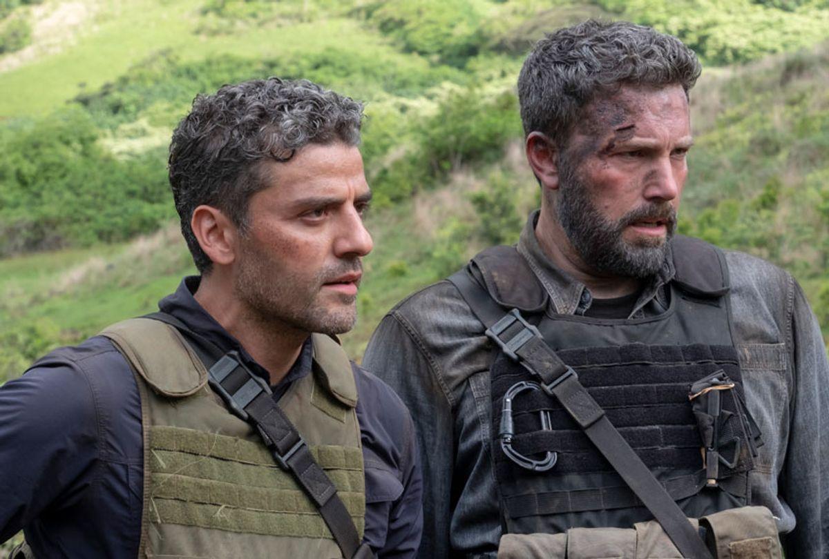 """Oscar Isaac and Ben Affleck in """"Triple Frontier"""" (Melinda Sue Gordon)"""