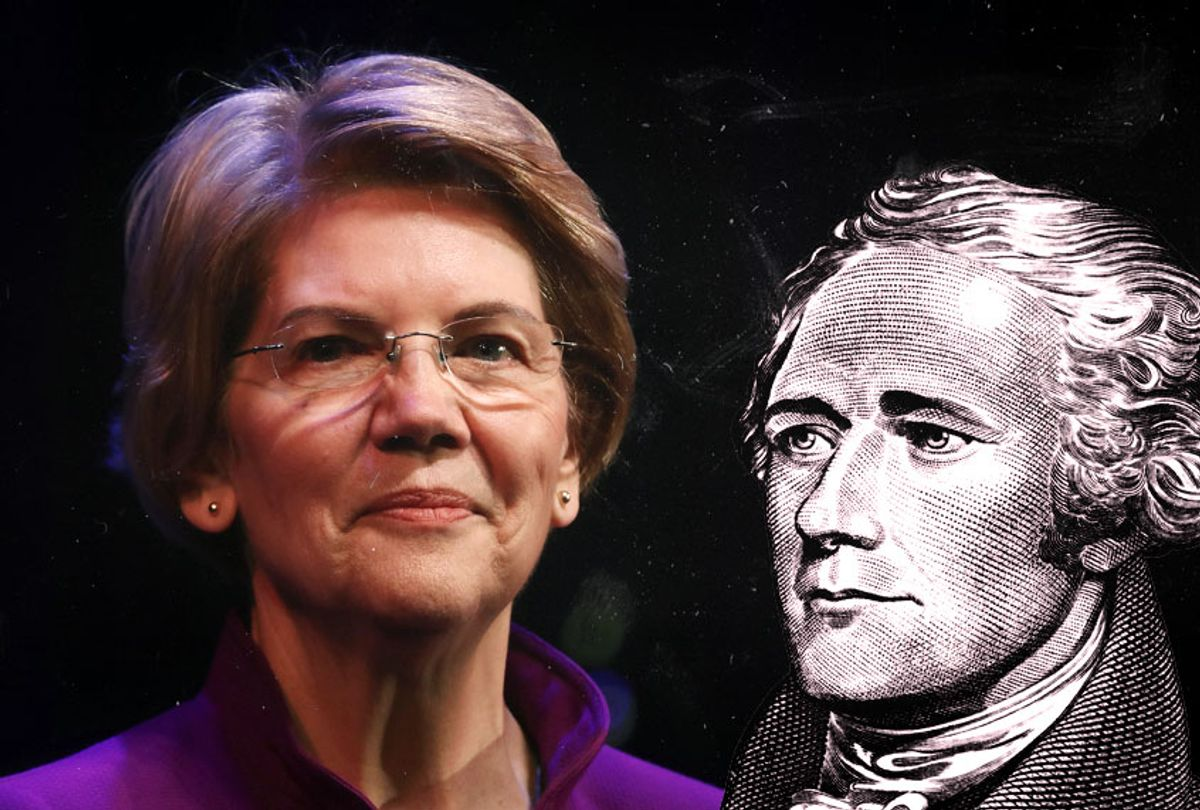 Elizabeth Warren; Alexander Hamilton (Getty/Salon)