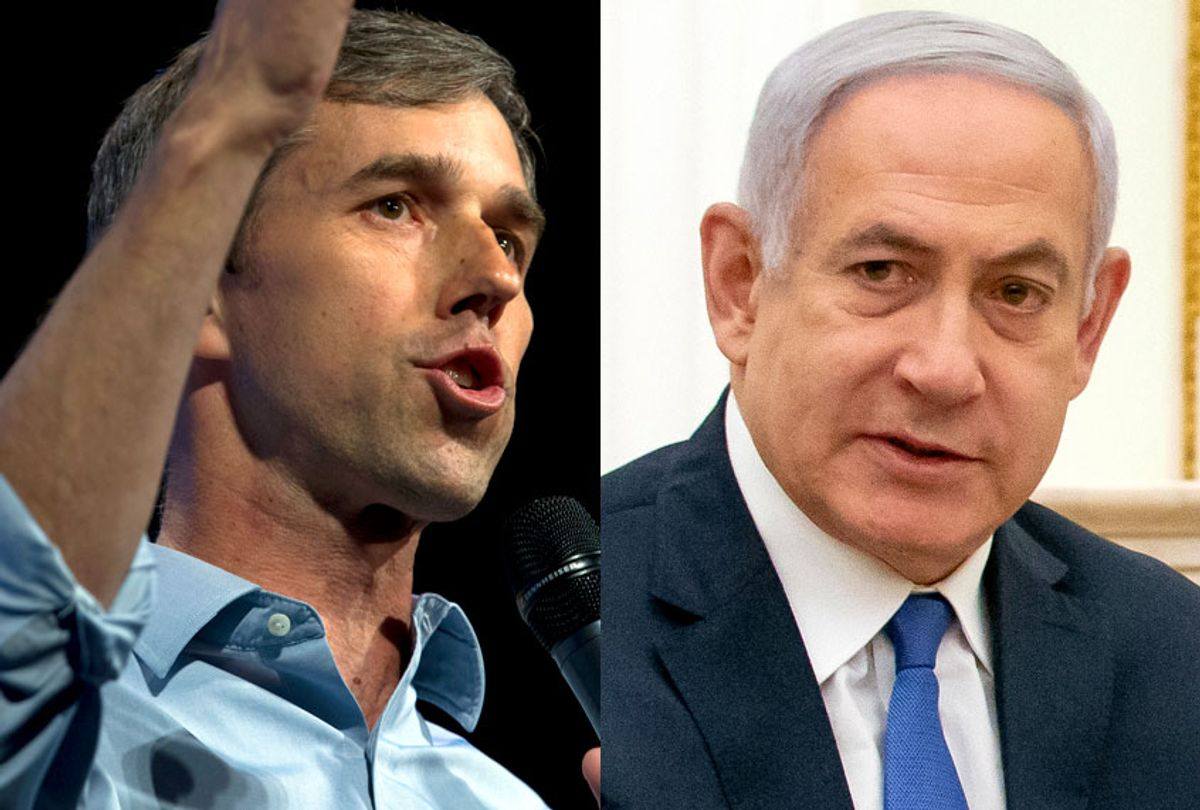 Beto O'Rourke; Benjamin Netanyahu (AP/Jose Luis Magana/Getty/Alexander Zemlianichenko)