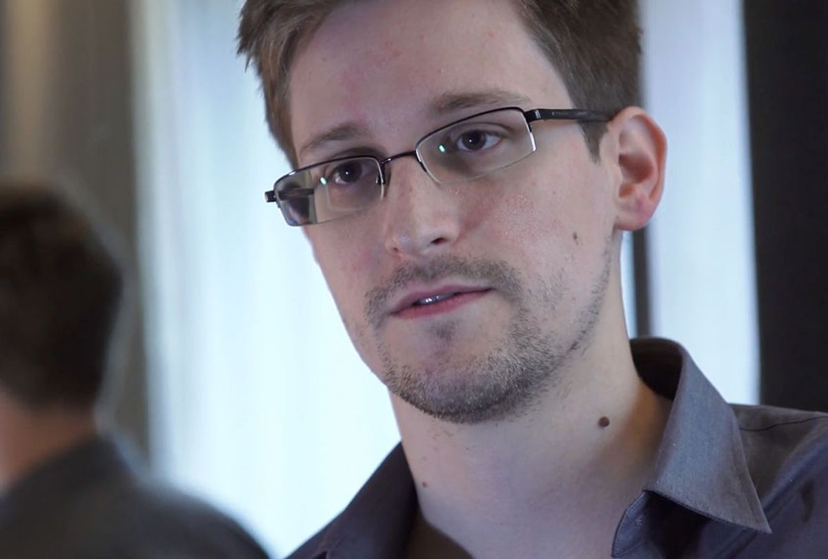 In this handout photo provided by The Guardian, Edward Snowden speaks during an interview in Hong Kong. (The Guardian via Getty Images)