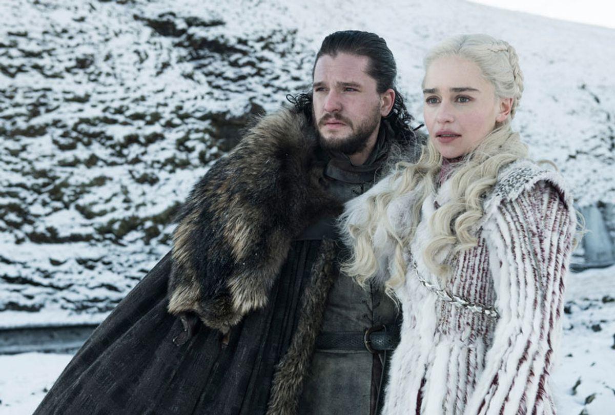 "Kit Harington and Emilia Clarke in ""Game of Thrones"" (Helen Sloane/HBO)"