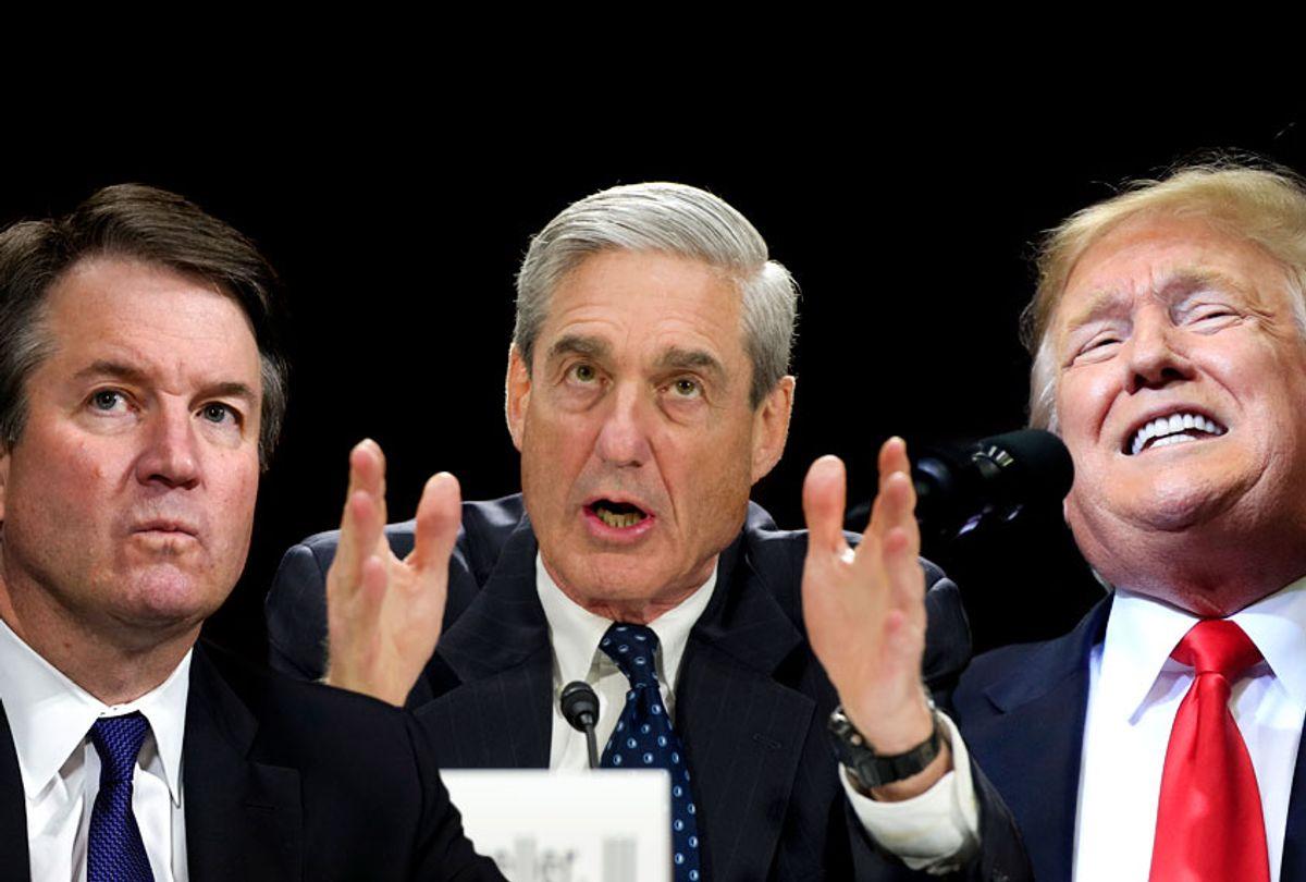 Brett Kavanaugh; Robert Mueller; Donald Trump (AP/Getty/Salon)