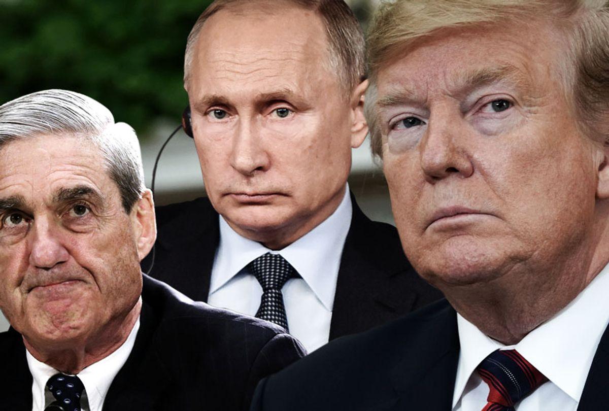 Robert Mueller; Vladimir Putin; Donald Trump (Getty/Salon)