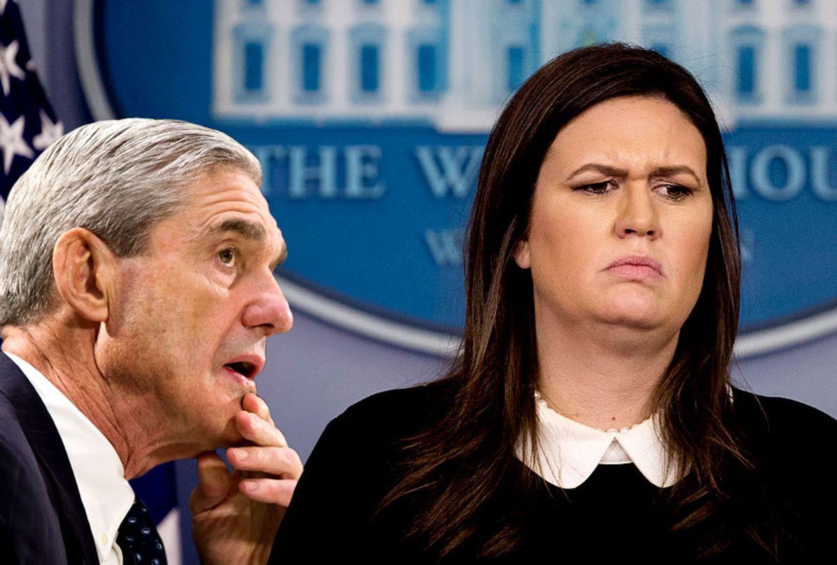 Robert Mueller; Sarah Huckabee Sanders (AP/Salon)