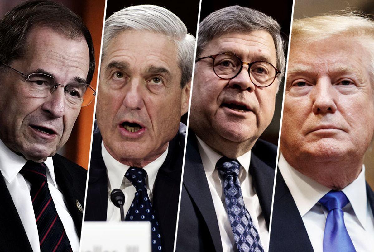 Jerry Nadler; Robert Mueller; William Barr; Donald Trump (AP/Getty/Salon)