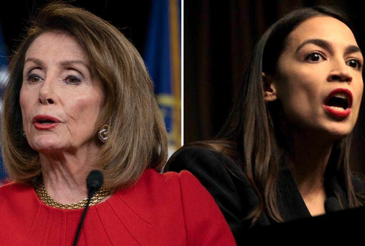 Speaker of the House Nancy Pelosi; Rep. Alexandria Ocasio-Cortez  (AP/J. Scott Applewhite/MediaPunch)