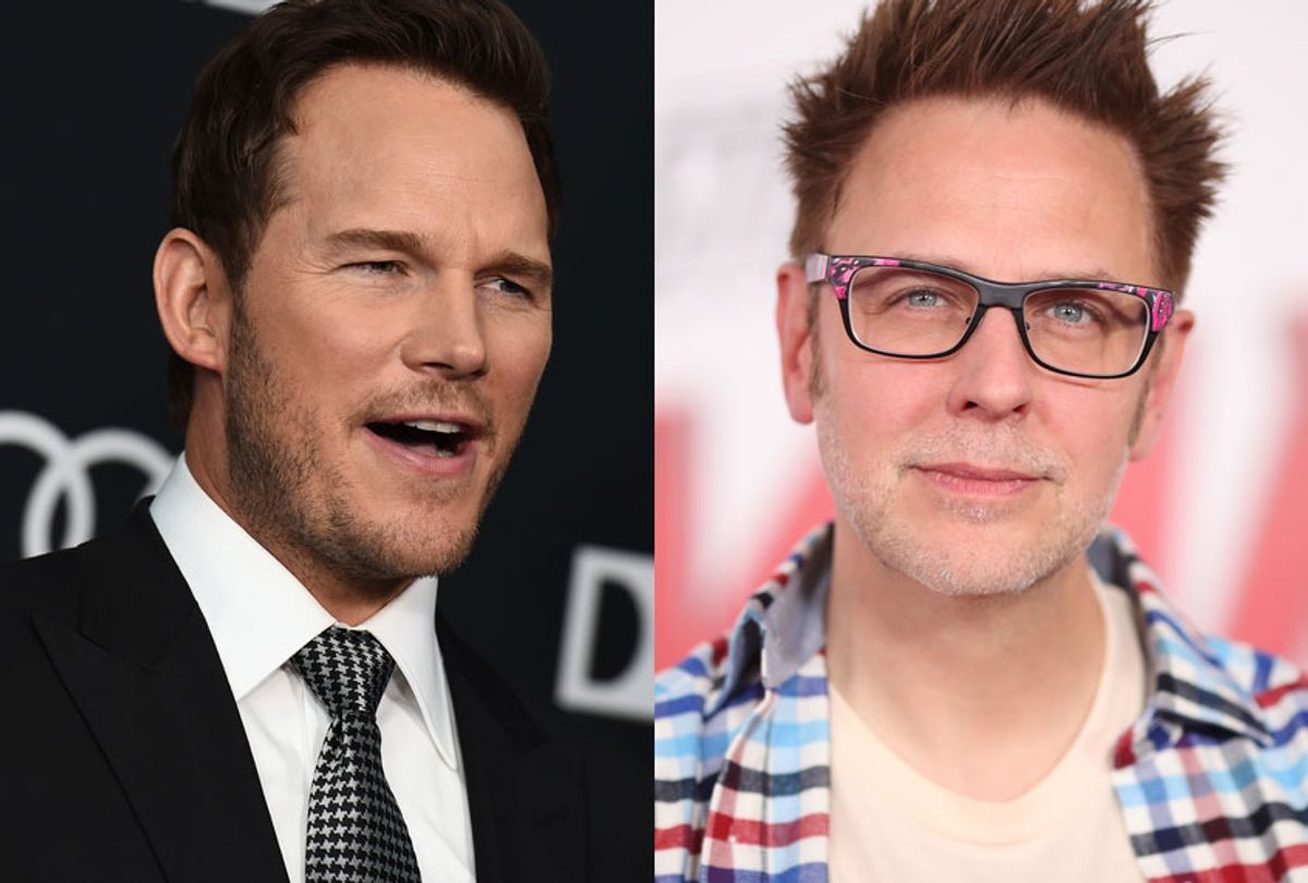 Chris Pratt; James Gunn (AP/Jordan Strauss/Getty/Christopher Polk)