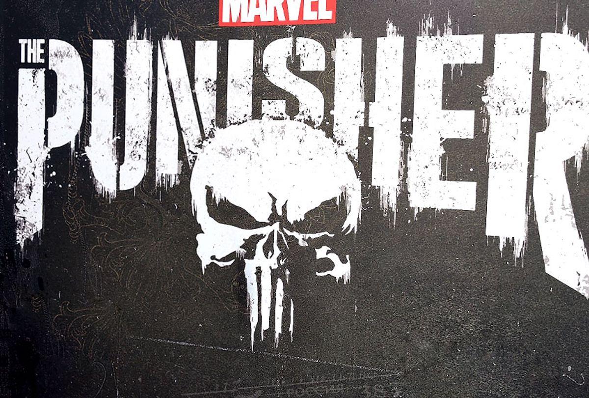 "The Punisher skull and logo from tMarvel's ""The Punisher"" (Getty/Gregg DeGuire)"