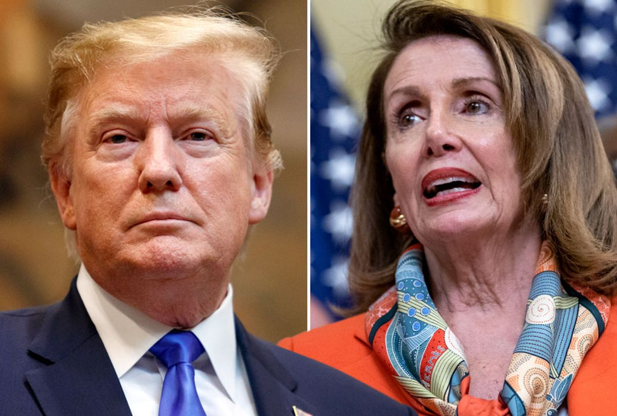 Donald Trump; Nancy Pelosi (Getty/Tom Brenner/Alex Edelman)