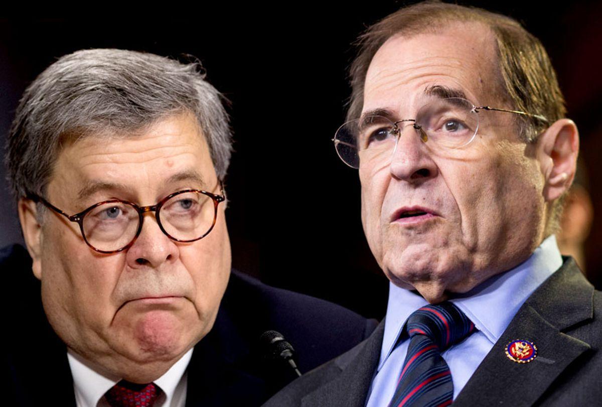 William Barr; Jerry Nadler (AP/Getty/Salon)