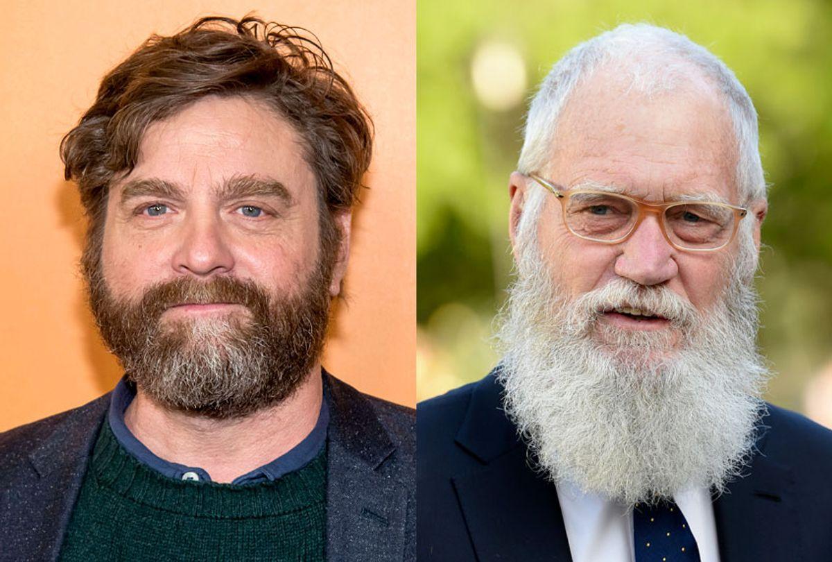 Zach Galifianakis; David Letterman (AP/Charles Sykes/Evan Agostini)