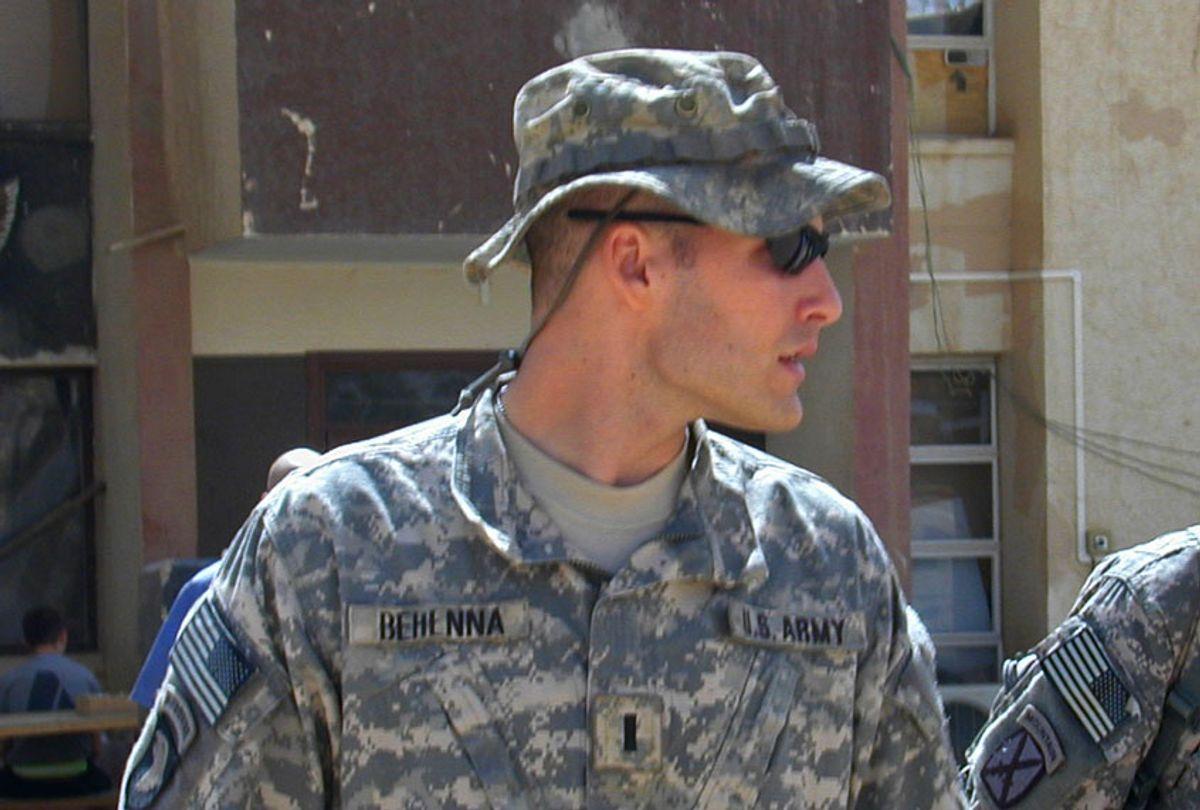 1st Lt. Michael C. Behenna walks in Camp Speicher, a large U.S. base near Tikrit, north of Baghdad, Iraq, Sunday, Sept. 21, 2008. (AP/Vanessa Gera)