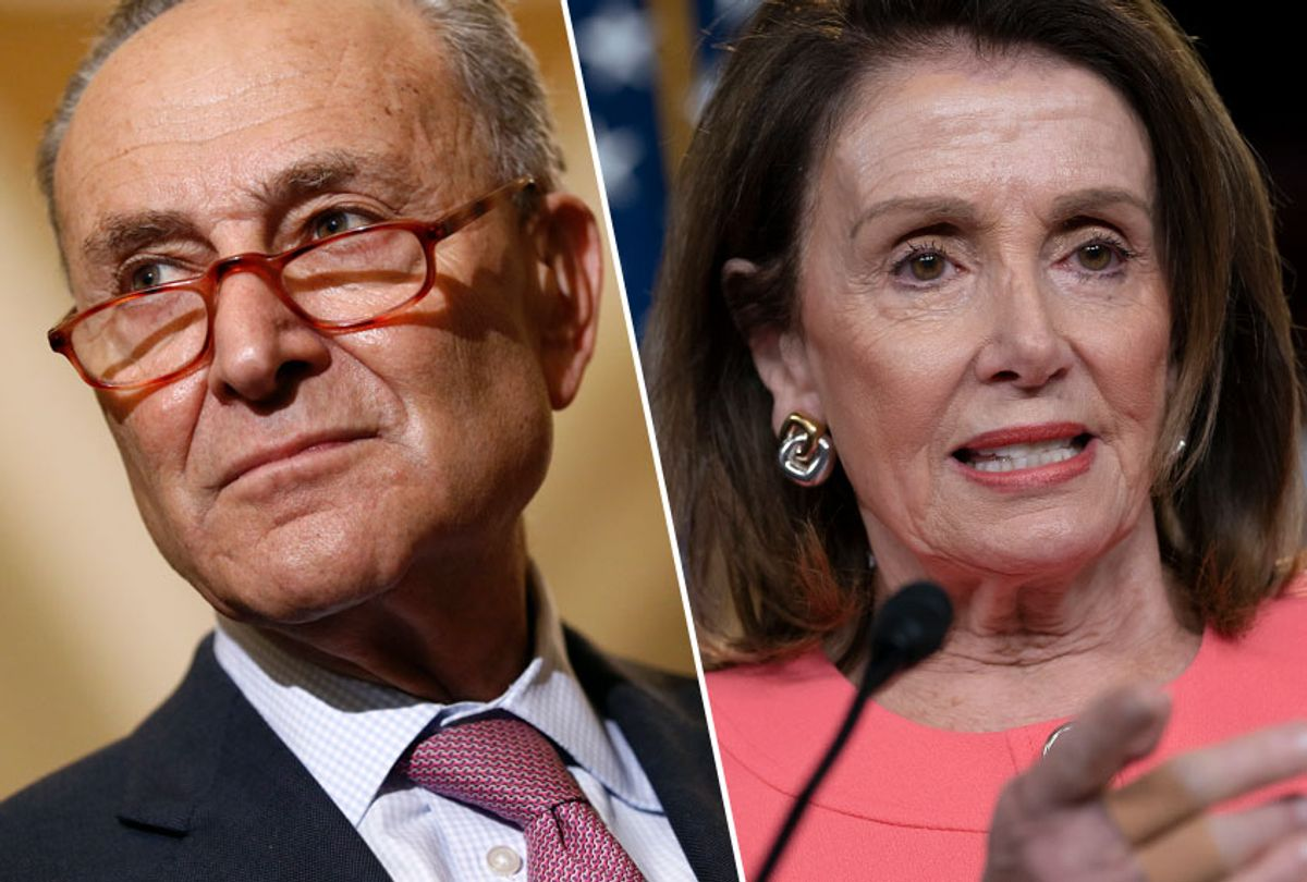 Chuck Schumer; Nancy Pelosi (AP/Patrick Semansky/J. Scott Applewhite)